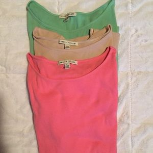 Carolyn Taylor Rounded Neck 3/4 Sleeve Tops (3)